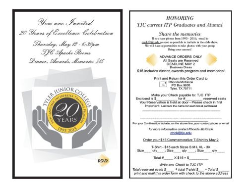 TJC ITP Invitation - 20 Years of Excellence