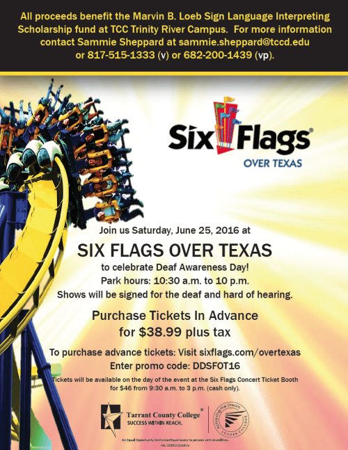 Six Flags Deaf Day 2016