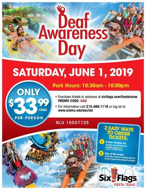 Deaf Awareness Day At Six Flags Fiesta Texas 6 1 19 San