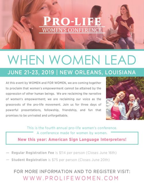 ASL INTERPRETER: Pro-Life Women's Conference 2019 at New Orleans