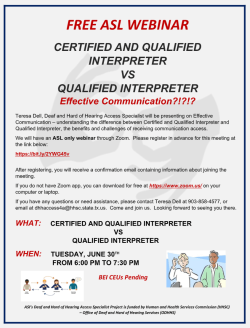 Webinar: Interpreter vs Qualified Interpreter 6/30/20
