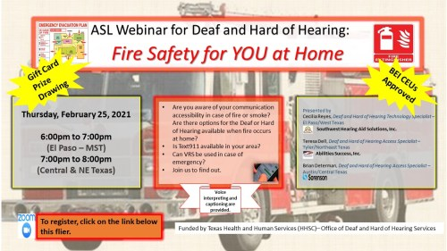 WEBINAR: Fire Safety for YOU at Home 2/25/2021