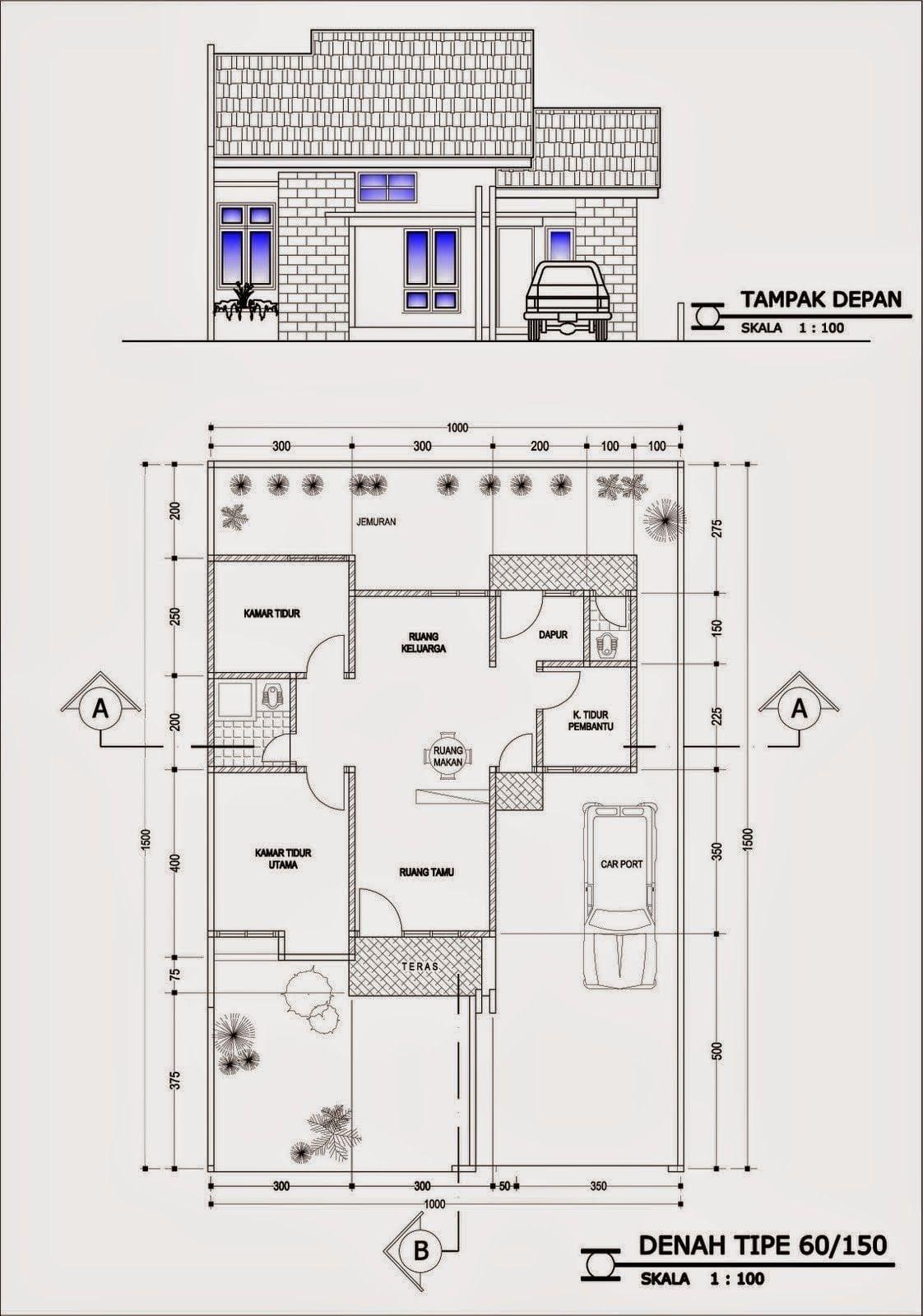 Desain Rumah 10x15 : desain, rumah, 10x15, Kumpulan, Desain, Rumah, Ukuran, 10X15, Terbaru, Terbaik, Deagam, Design
