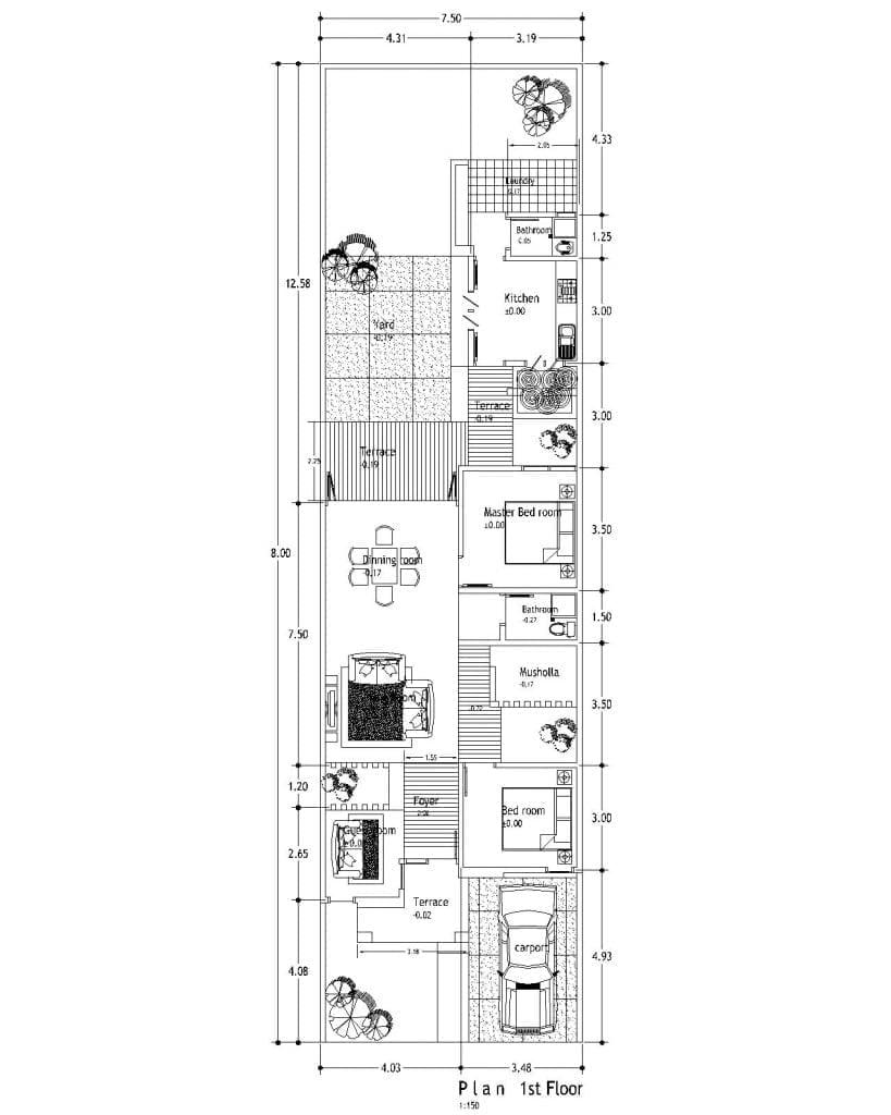 Desain Rumah Memanjang : desain, rumah, memanjang, Ragam, Desain, Rumah, Minimalis, Lantai, Memanjang, Belakang, Wajib, Ketahui, Deagam, Design