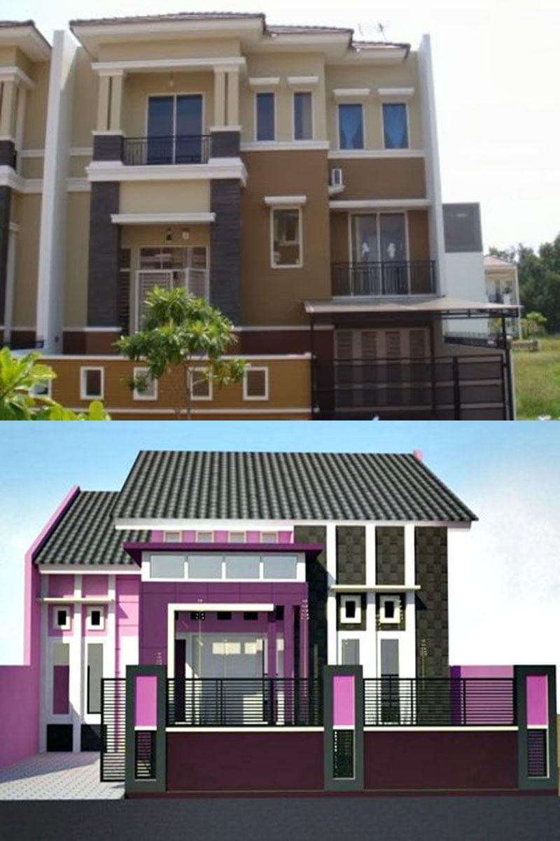 Cat Depan Rumah Minimalis : depan, rumah, minimalis, Contoh, Desain, Rumah, Minimalis, Tampak, Depan, Warna, Cerah, Paling, Terkenal, Deagam, Design
