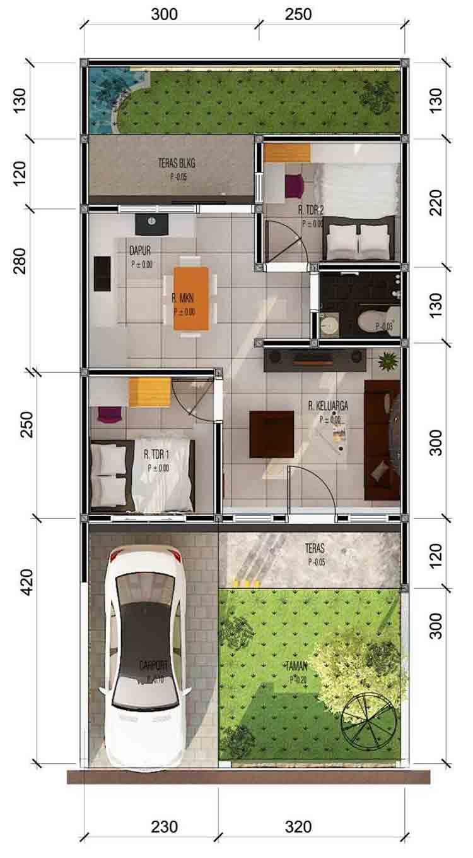 Denah Type 30 : denah, Inspirasi, Desain, Rumah, Minimalis, Paling, Terkenal, Deagam, Design