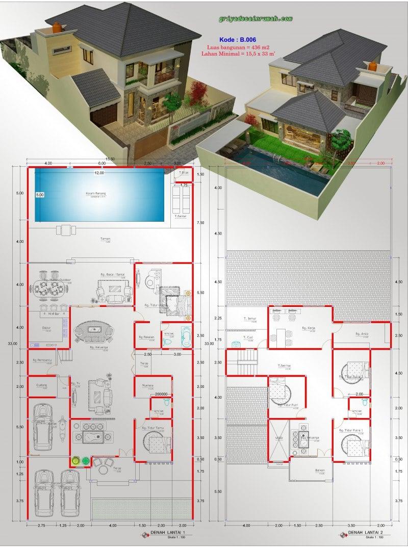 Kolam Renang Beserta Ukurannya : kolam, renang, beserta, ukurannya, Desain, Rumah, Mewah, Beserta, Ukurannya, Deagam, Design