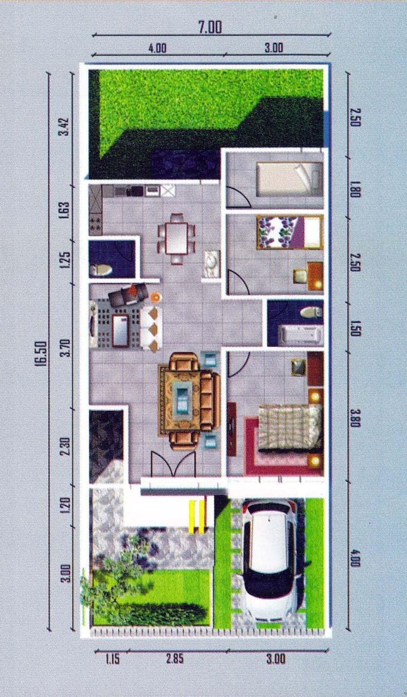Desain Rumah 7x12 : desain, rumah, Arsitektur, Desain, Rumah, Ukuran, Paling, Populer, Dunia, Deagam, Design