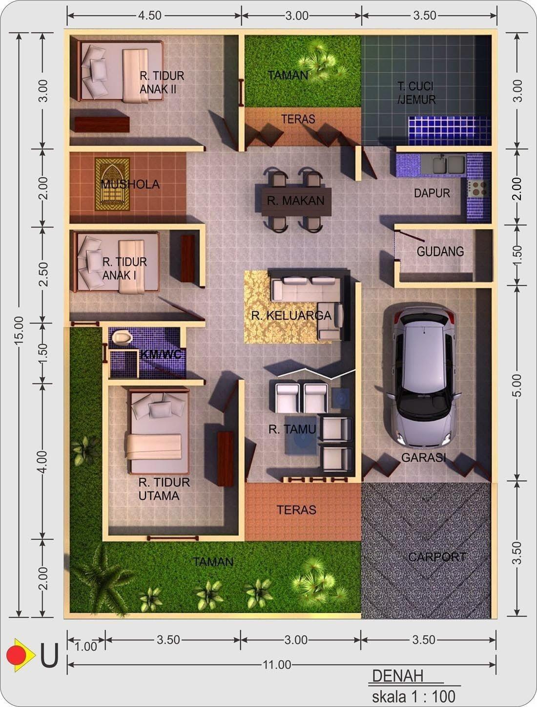 Desain Rumah 10x15 : desain, rumah, 10x15, Desain, Rumah, Minimalis, Ukuran, 10X15, Terpopuler, Harus, Deagam, Design