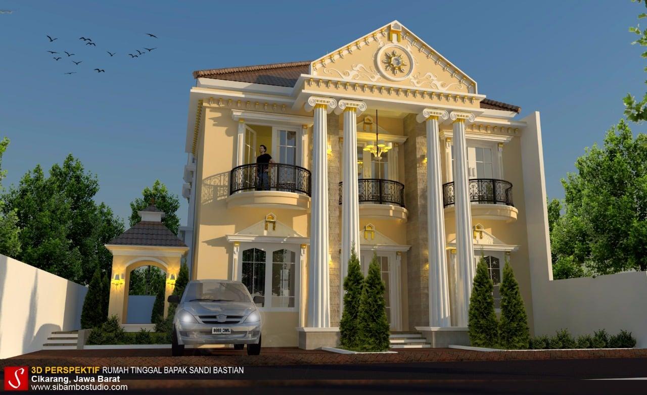 Desain Rumah Mewah Unik 3d Cek Bahan Bangunan