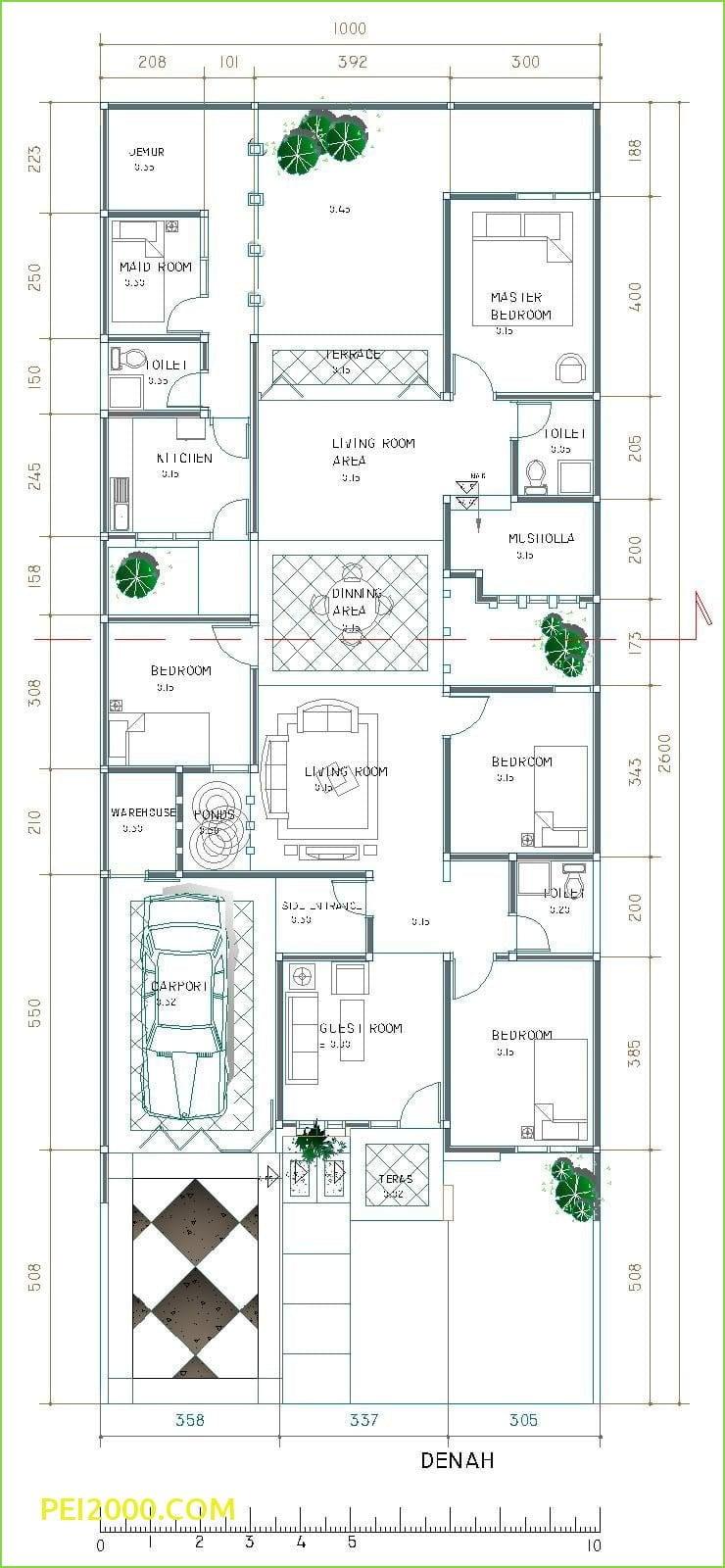 Denah Rumah 4 Kamar : denah, rumah, kamar, Kumpulan, Desain, Denah, Rumah, Mewah, Lantai, Kamar, Tidur, Terbaru, Terbaik, Deagam, Design
