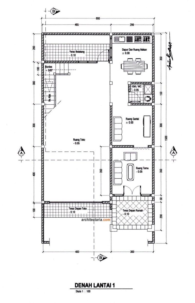 Desain Rumah Toko : desain, rumah, Gambar, Desain, Rumah, Ukuran, Terbaik, Deagam, Design