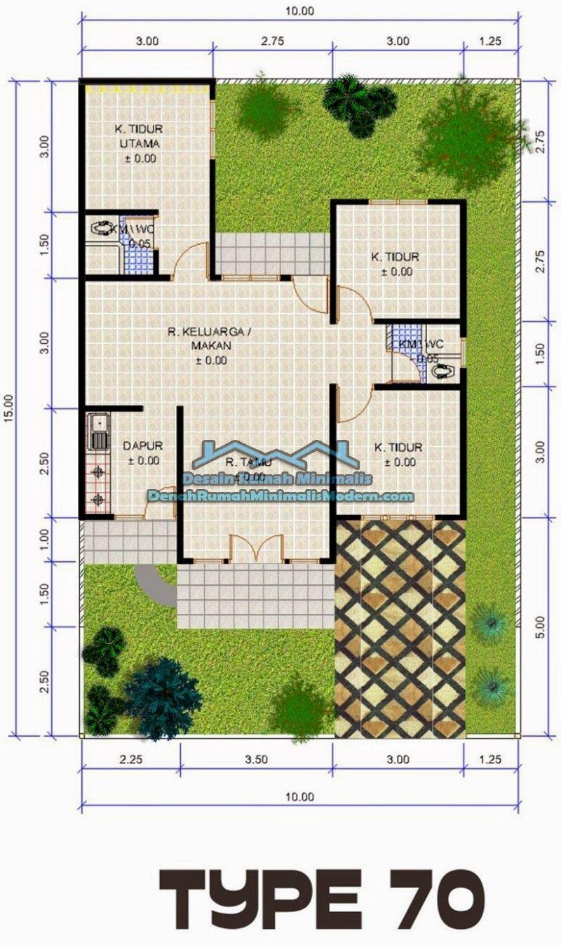 Denah Rumah Type 100 : denah, rumah, Desain, Denah, Rumah, Minimalis, Lantai, Terpopuler, Harus, Deagam, Design