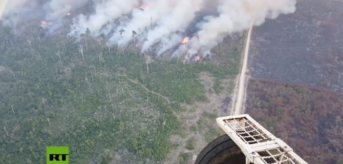 VIDEO gigantesco incendio se traga el Amazona