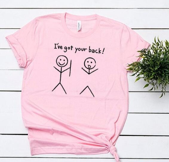 I'VE GOT YOUR BACK T-Shirt pink