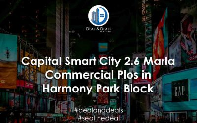 Capital Smart City 2.6 Marla Commercial Plots in Harmony Park Block [Complete Guide]