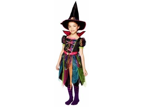 Kids Rainbow Witch Costume Dress with Hat  DealBuyer UK Ltd