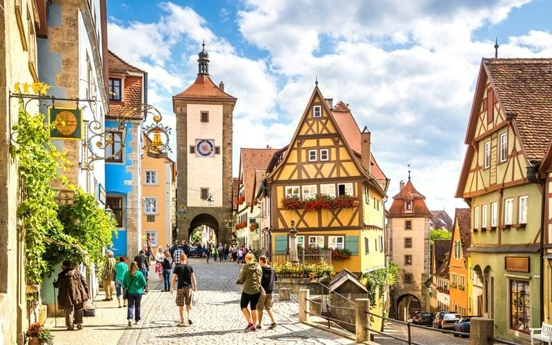 Orașul vechi din Rothenburg ob der Tauber