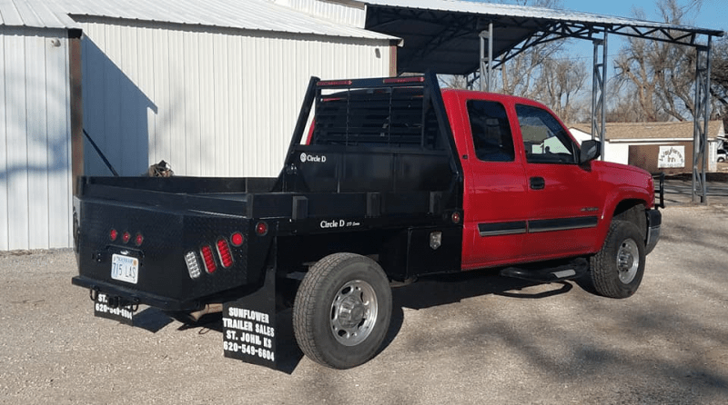 2021 circle d 7 x 7 sd short bed flatbed