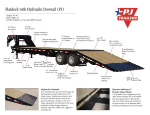 Flatdeck with Hydraulic Dove (FY) | Trailer Country Arkansas Trailer Dealer  Trailers in Arkansas