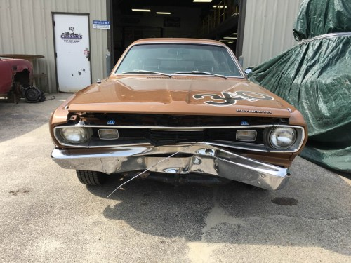 small resolution of auto body classic car front end repair on a 1970 plymouth duster