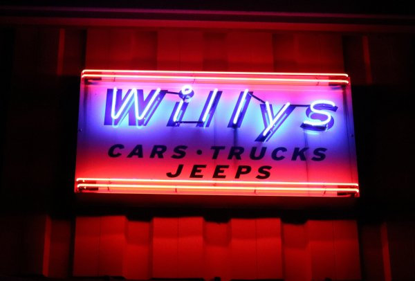 Willys Jeep Sign Gaa Classic Cars