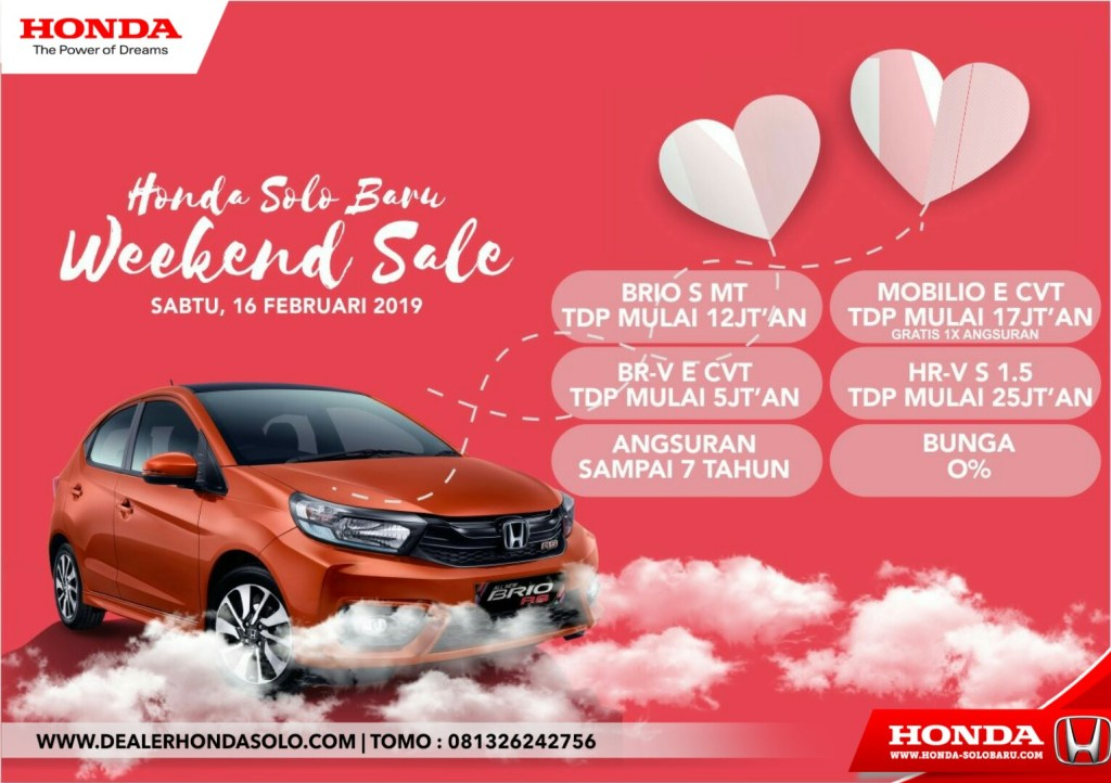 Honda Solo Baru Weekend Sale Promo Valentine