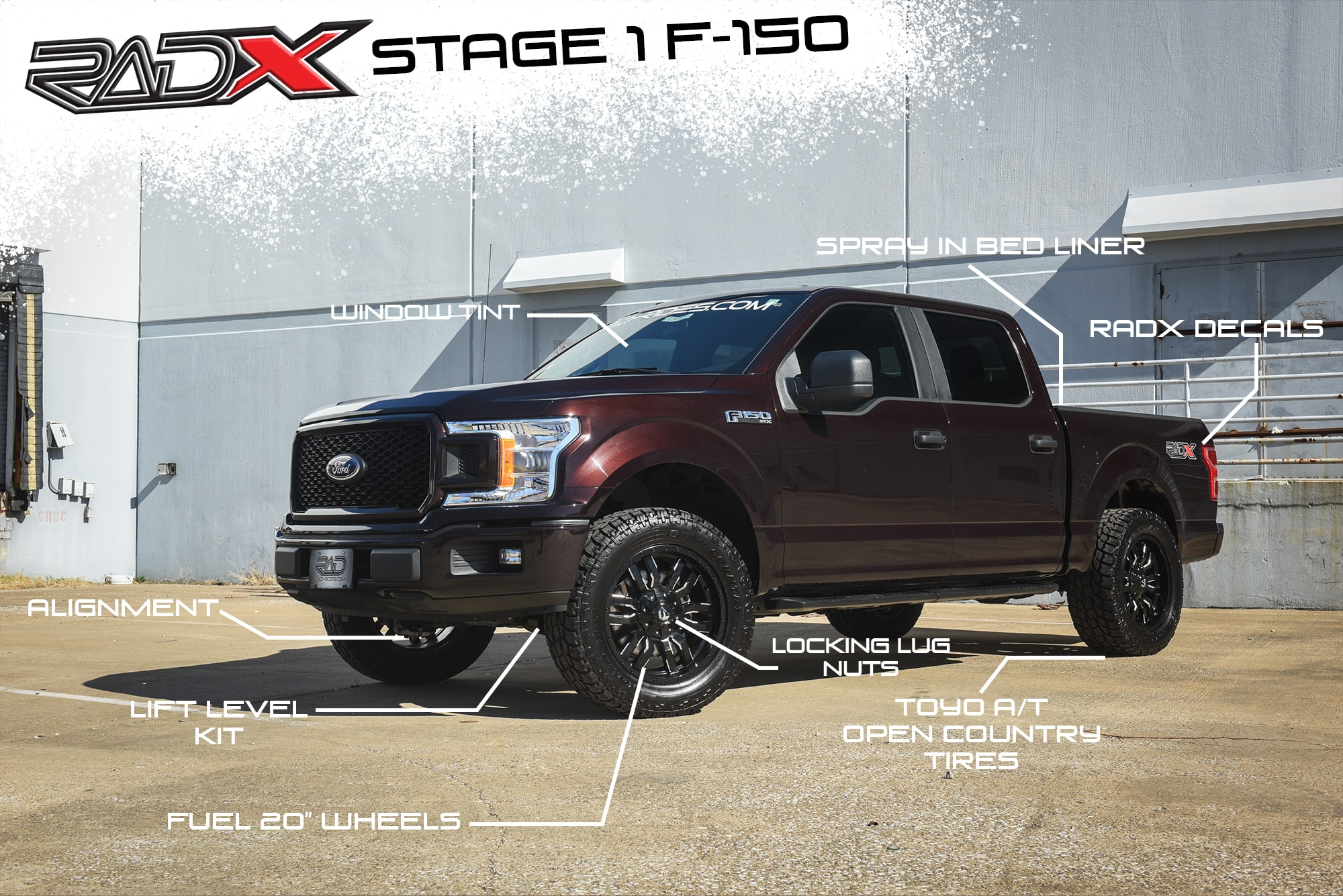 hight resolution of 2018 ford f 150 lift level packages with wheels and tires for 4x4 aftermarket truck