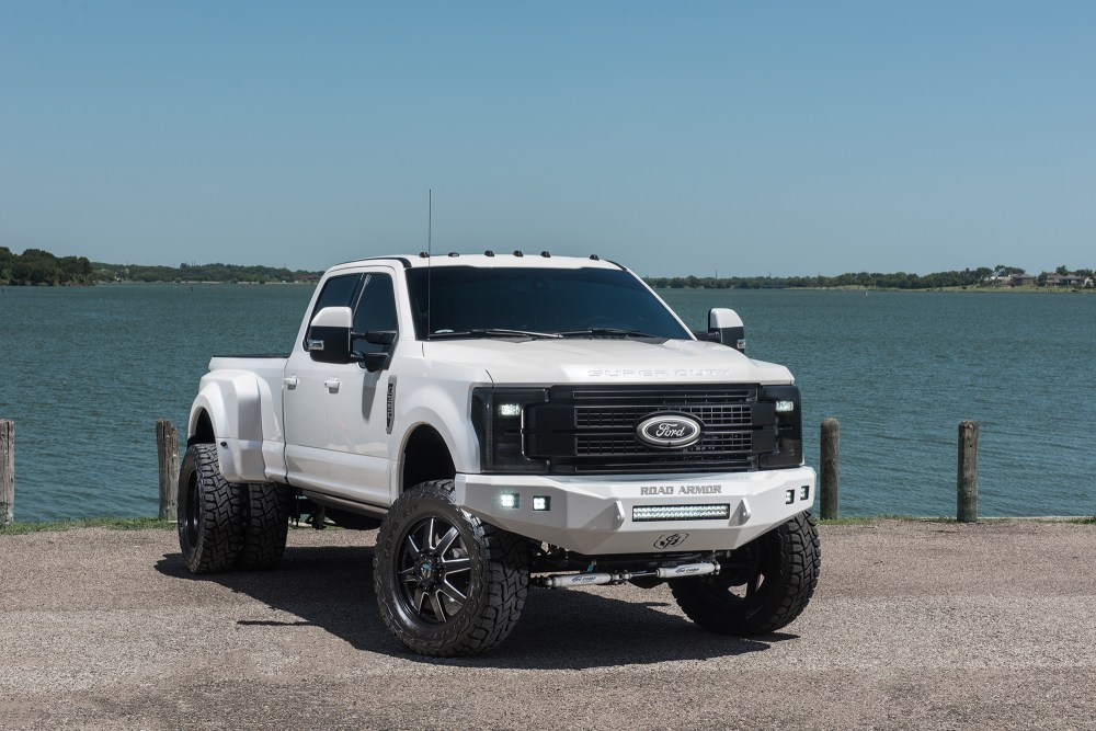 medium resolution of 2017 ford f 350 dually platinum lifted 4x4 truck in white platinum metallic with 6
