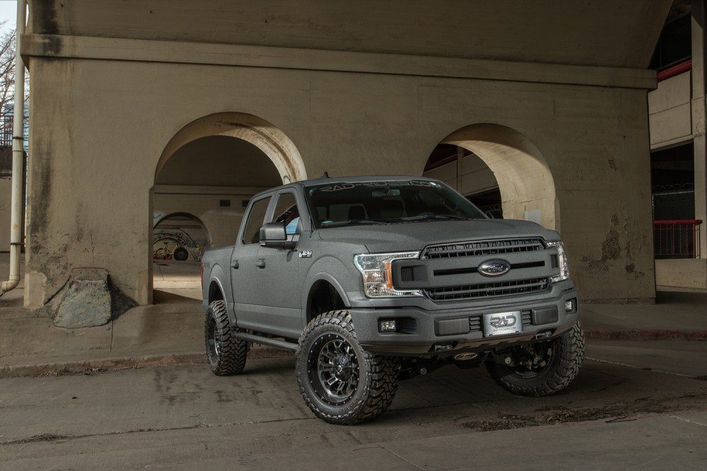 medium resolution of 2018 ford f 150 xlt gray kevlar 4x4 lifted truck sold