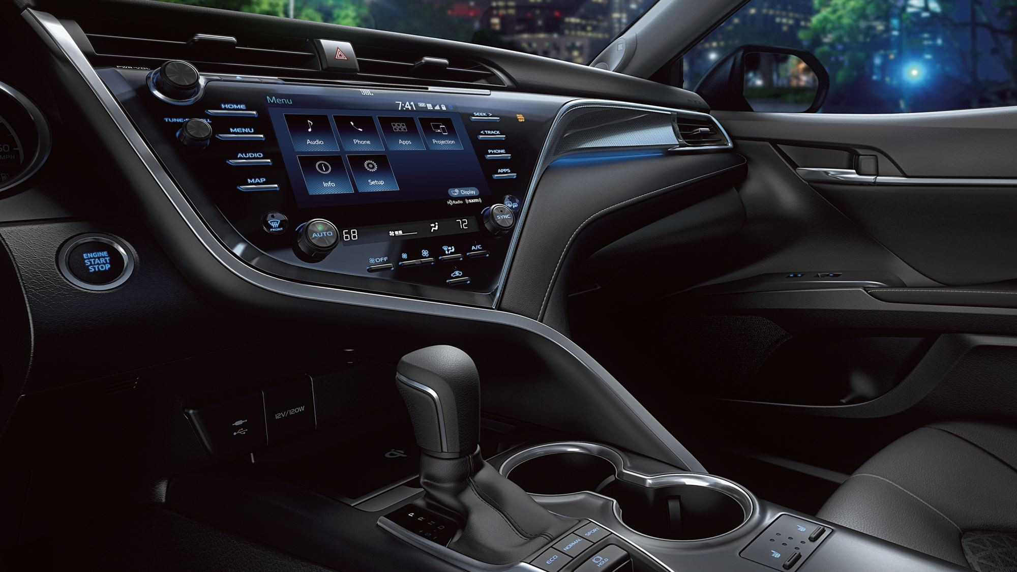 hight resolution of 2019 toyota camry center console