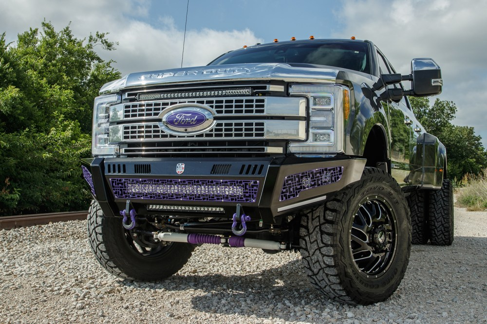 medium resolution of 2018 ford f 350 platinum dually purple accents customer build