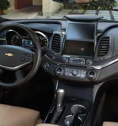 interior of the 2019 chevrolet impala [ 1613 x 807 Pixel ]
