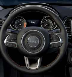steering wheel in the jeep compass [ 1440 x 720 Pixel ]