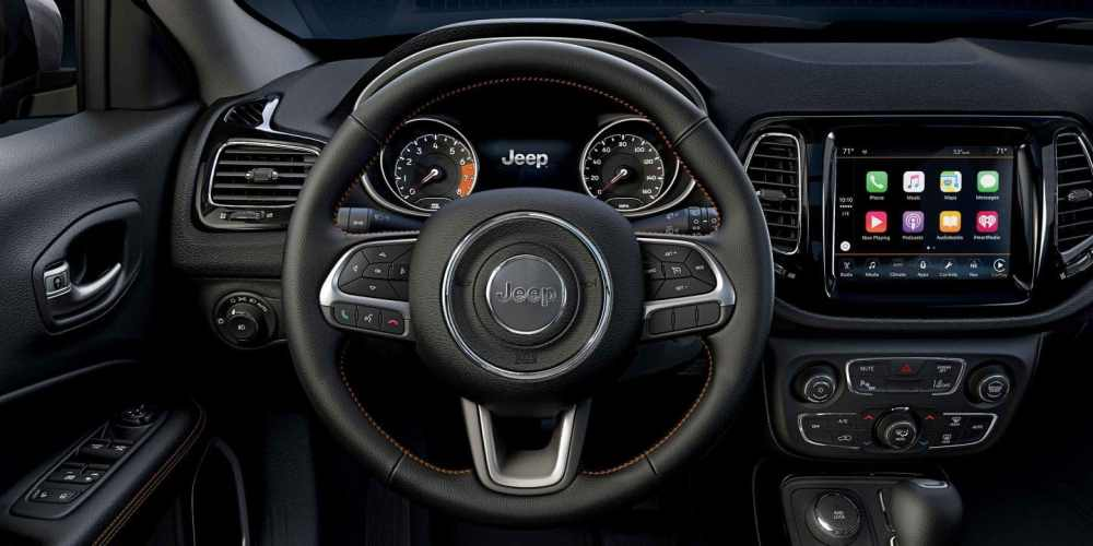 medium resolution of steering wheel in the jeep compass