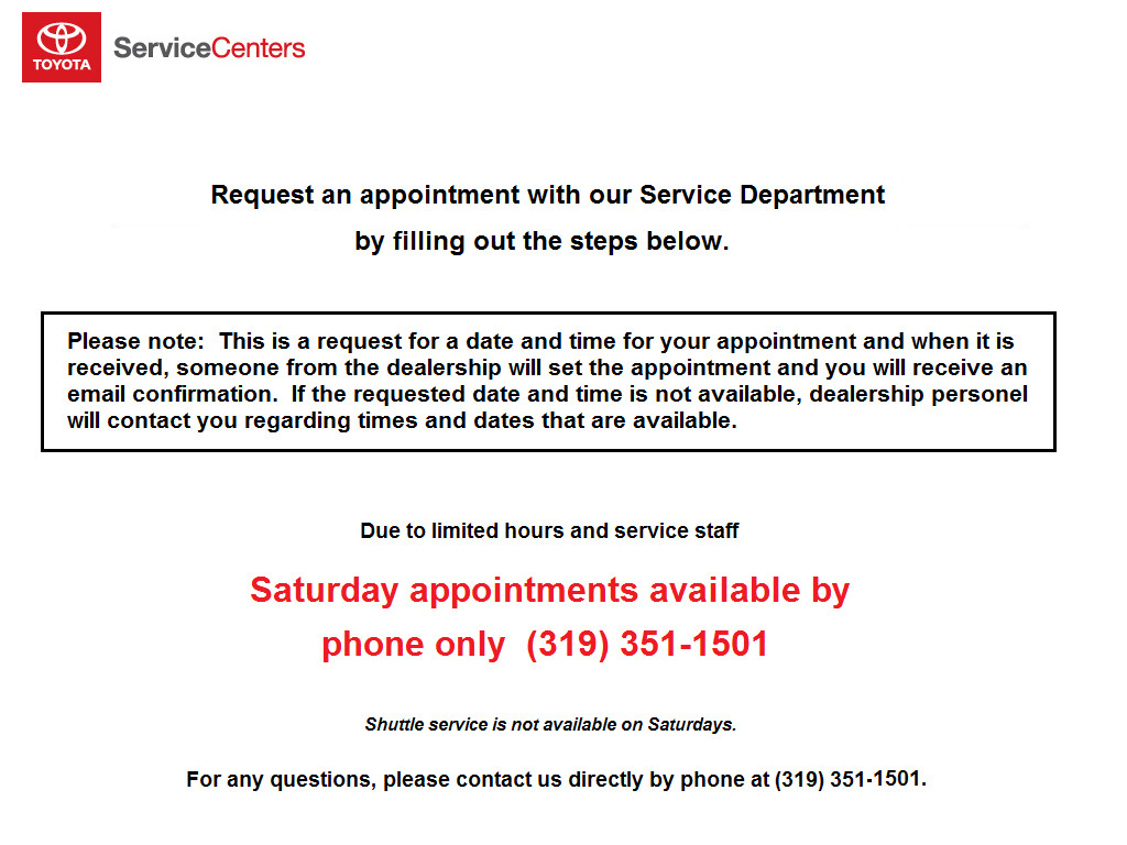 virtual service appointment toyota
