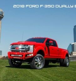 2018 ford f350 dually super duty diesel lifted red with road armor identity bumpers rigid lights [ 1200 x 800 Pixel ]