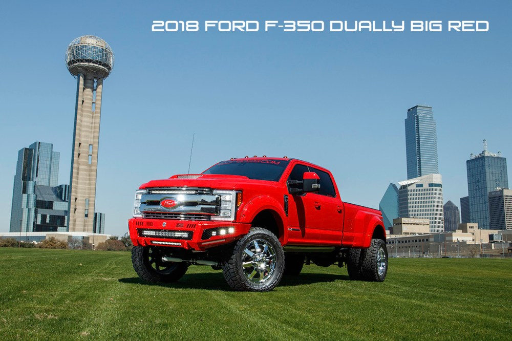 medium resolution of 2018 ford f350 dually super duty diesel lifted red with road armor identity bumpers rigid lights