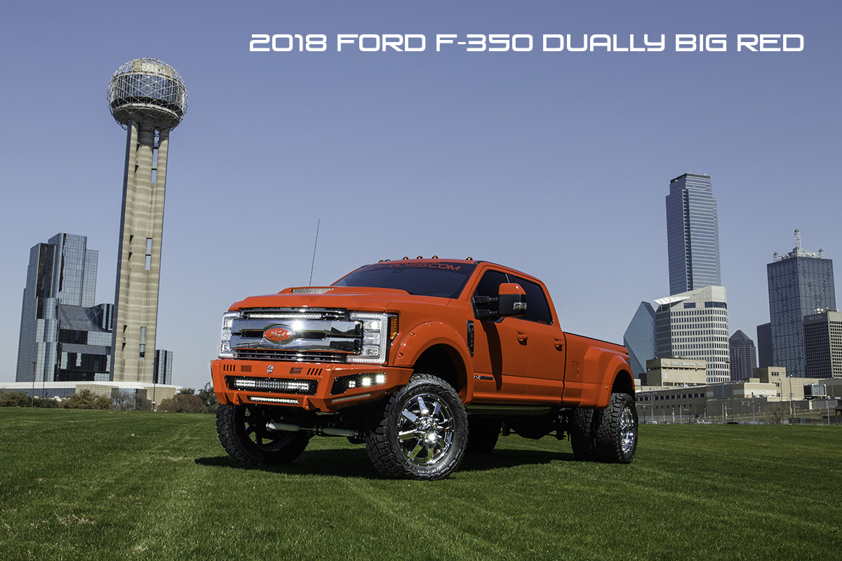 hight resolution of 2018 ford f350 dually super duty diesel lifted red with road armor identity bumpers rigid lights
