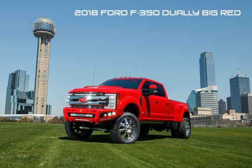 small resolution of 2018 ford f350 dually super duty diesel lifted red with road armor identity bumpers rigid lights