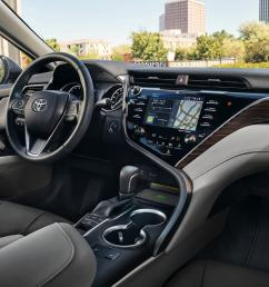 a comfortable interior with the 2018 camry [ 1440 x 810 Pixel ]