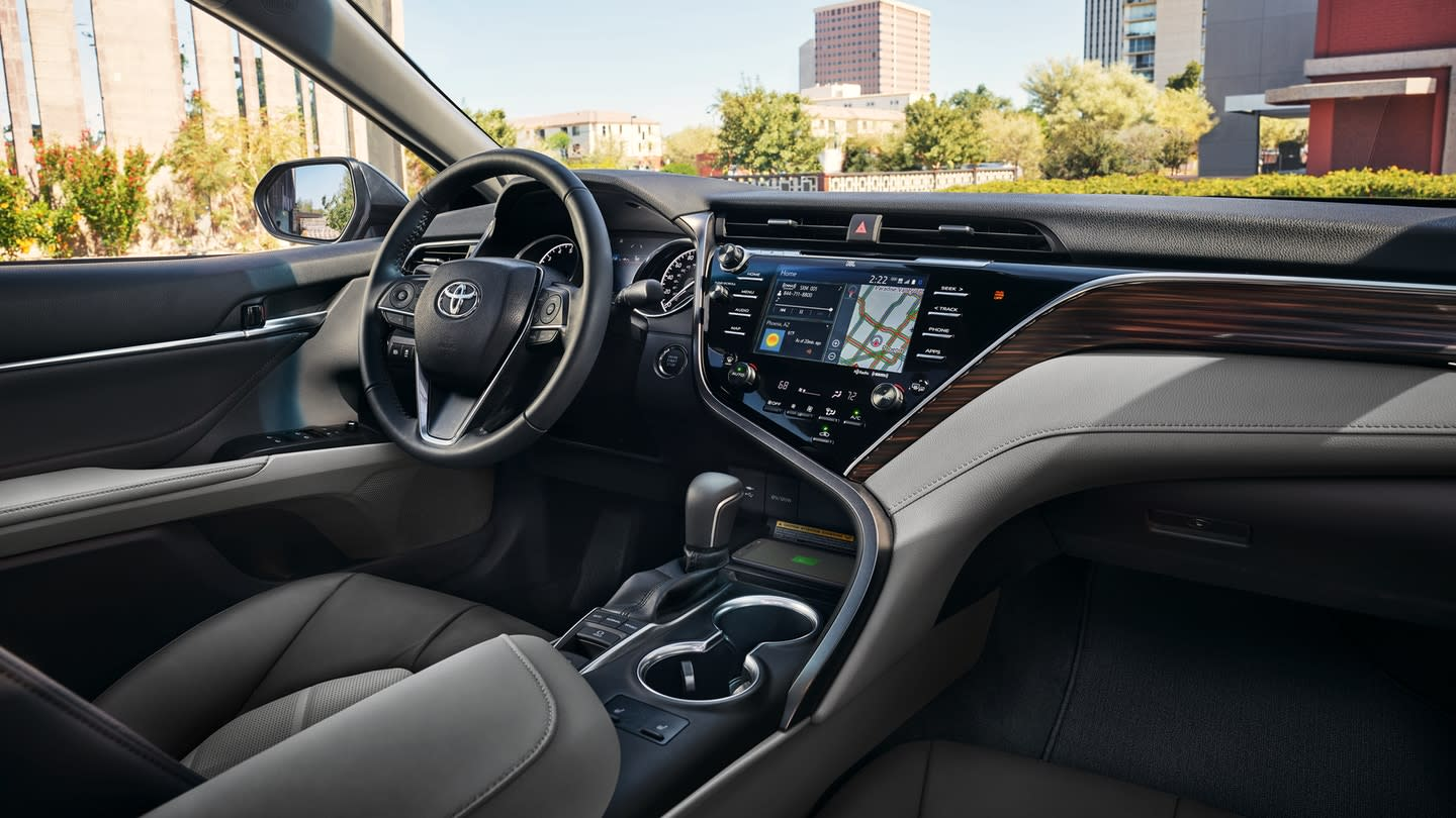hight resolution of a comfortable interior with the 2018 camry