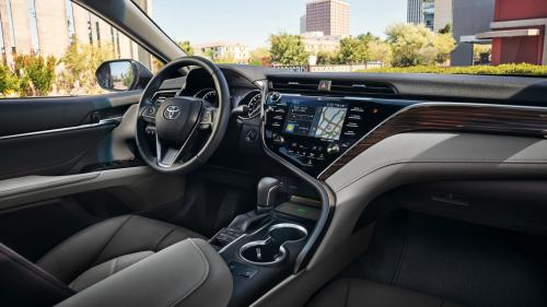 small resolution of a comfortable interior with the 2018 camry