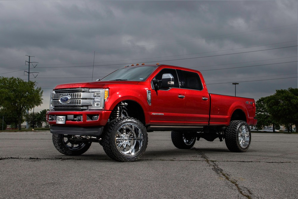 medium resolution of ford f350 super duty platinum with fuel 24 inch maverick wheels and an 8 inch fabtech
