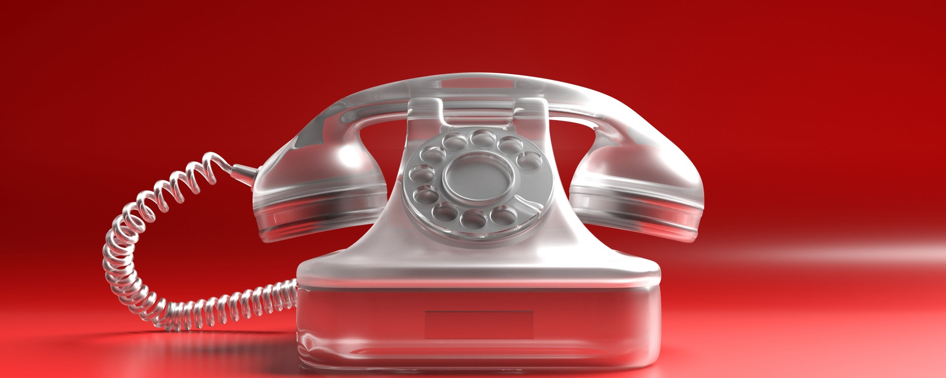 Telephone vintage on red background