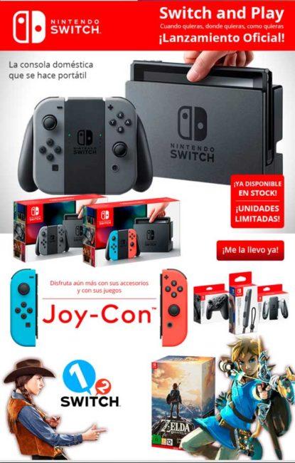 comprar Videoconsolas Nintendo Switch