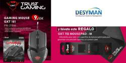 trust gaming mouse con alfombrilla de regalo