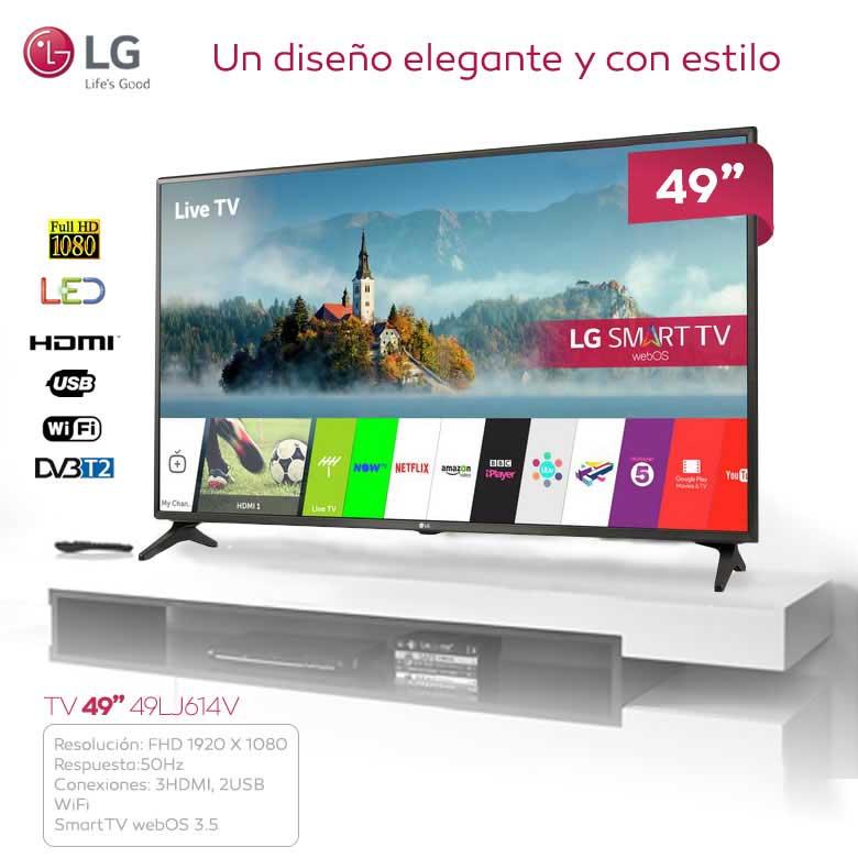 """TELEVISION 49"""" LG 49LJ614V LED FULLHD SMART TV WEB OS 3.5"""