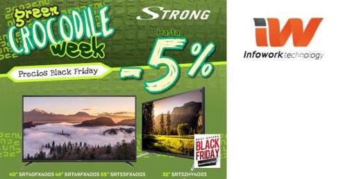 Descuento especial en TVs Strong con Infowork Black Friday