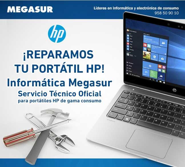 En Megasur, reparamos tu portátil HP